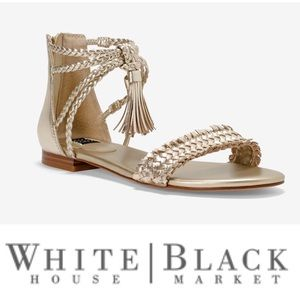 WHBM Leather Braided Sandals